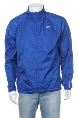Ανδρικό αθλητικό μπουφάν New Balance, Μέγεθος L, Χρώμα Μπλέ, Πολυεστέρας, Τιμή 29,23€