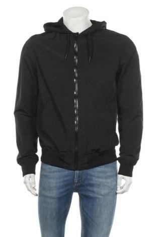 Мъжко яке H&M L.O.G.G., Размер M, Цвят Черен, 85% полиестер, 15% памук, Цена 31,92лв.