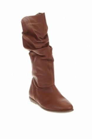 Παπούτσια Mis Pepas, Μέγεθος 35, Χρώμα Καφέ, Γνήσιο δέρμα, Τιμή 19,67€
