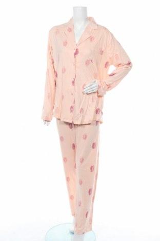 Пижама, Размер XXL, Цвят Розов, Памук, Цена 36,75лв.