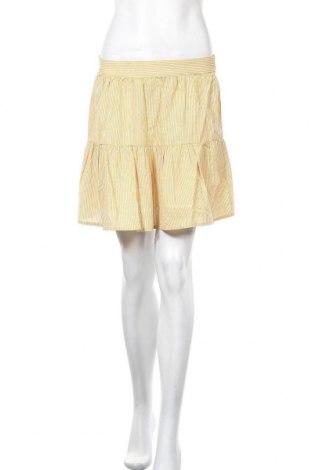 Пола Vero Moda, Размер S, Цвят Жълт, Памук, Цена 11,96лв.