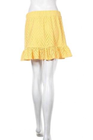 Пола Vero Moda, Размер M, Цвят Жълт, 95% полиестер, 5% еластан, Цена 11,96лв.