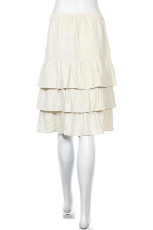 Пола Vero Moda, Размер M, Цвят Бежов, 55% лен, 45% вискоза, Цена 22,42лв.