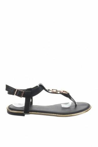 Σανδάλια New Look, Μέγεθος 38, Χρώμα Μαύρο, Δερματίνη, Τιμή 10,83€