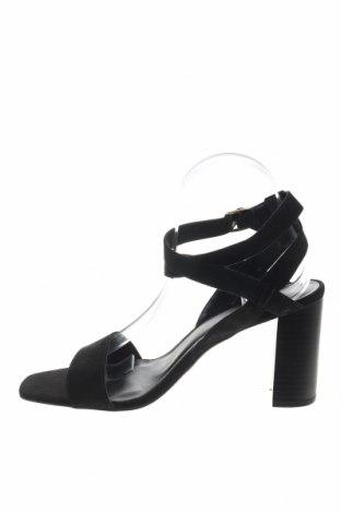 Сандали New Look, Размер 39, Цвят Черен, Текстил, Цена 26,55лв.