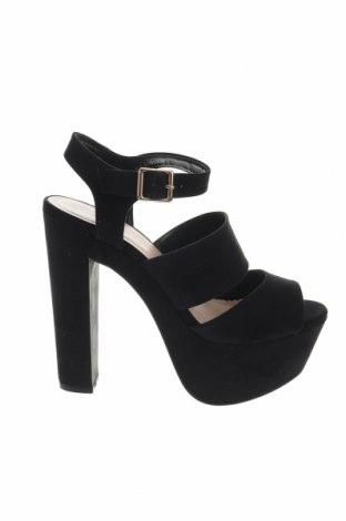 Σανδάλια New Look, Μέγεθος 37, Χρώμα Μαύρο, Κλωστοϋφαντουργικά προϊόντα, Τιμή 14,74€