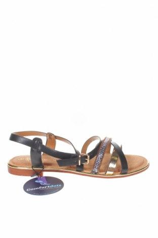 Сандали Nicewalk, Размер 39, Цвят Черен, Еко кожа, текстил, Цена 19,76лв.