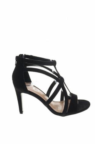 Σανδάλια The Divine Factory, Μέγεθος 36, Χρώμα Μαύρο, Κλωστοϋφαντουργικά προϊόντα, Τιμή 17,64€