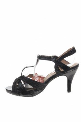 Σανδάλια Xti, Μέγεθος 37, Χρώμα Μαύρο, Δερματίνη, κλωστοϋφαντουργικά προϊόντα, Τιμή 14,65€