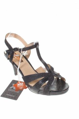 Σανδάλια Xti, Μέγεθος 38, Χρώμα Μαύρο, Δερματίνη, κλωστοϋφαντουργικά προϊόντα, Τιμή 16,73€