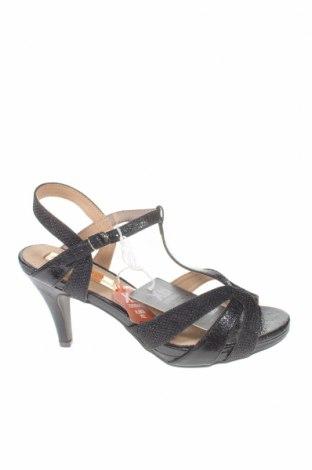 Σανδάλια Xti, Μέγεθος 36, Χρώμα Μαύρο, Δερματίνη, κλωστοϋφαντουργικά προϊόντα, Τιμή 16,73€