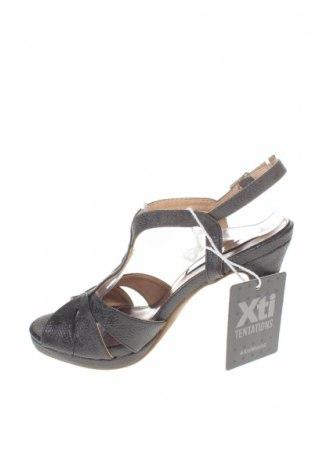Σανδάλια Xti, Μέγεθος 36, Χρώμα Μαύρο, Δερματίνη, Τιμή 17,64€