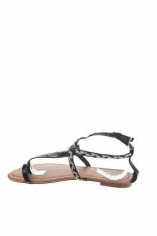 Сандали Xti, Размер 37, Цвят Черен, Еко кожа, текстил, Цена 26,55лв.
