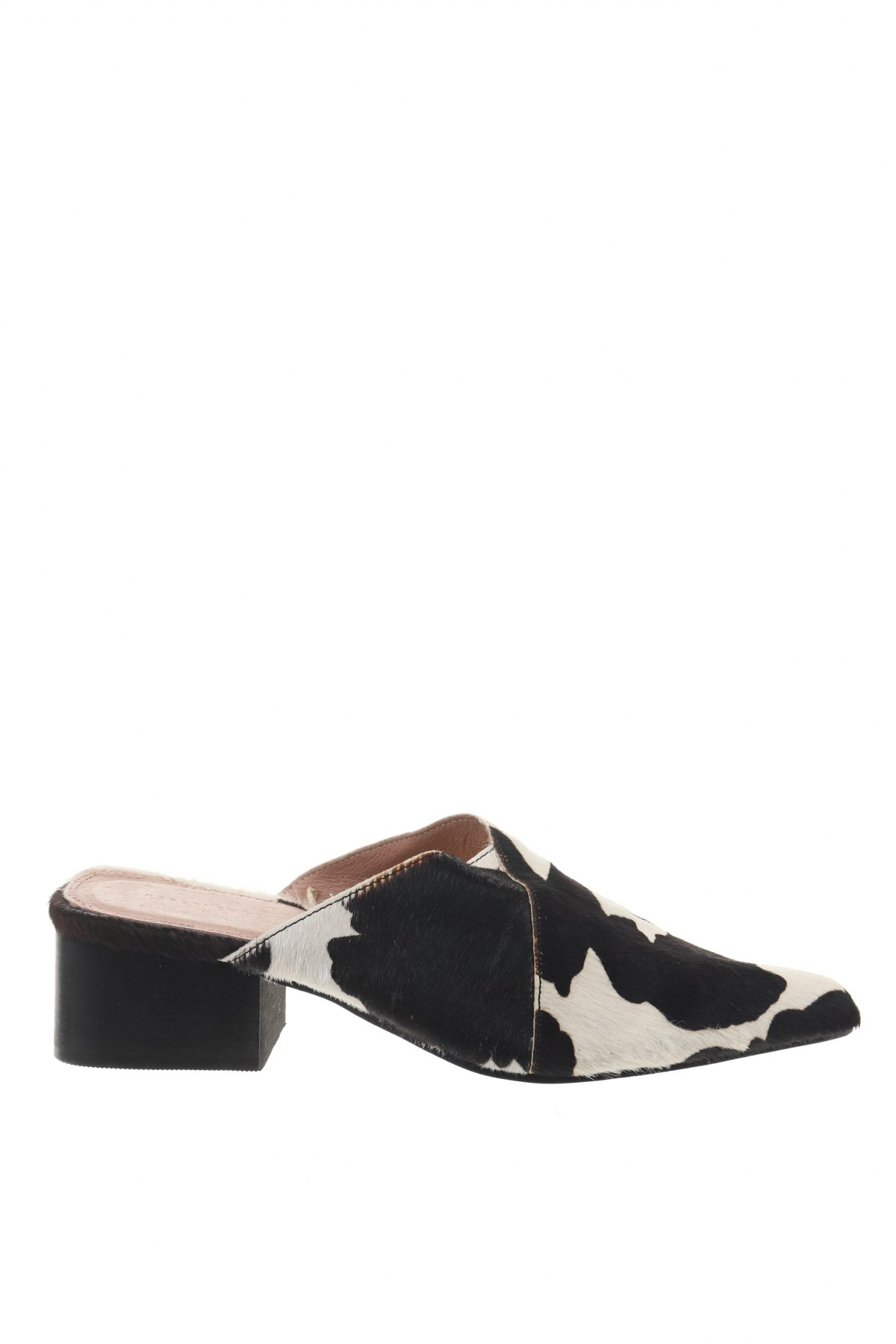 Γυναικείες παντόφλες Reserved, Μέγεθος 38, Χρώμα Μαύρο, Φυσική τρίχα, Τιμή 28,07€