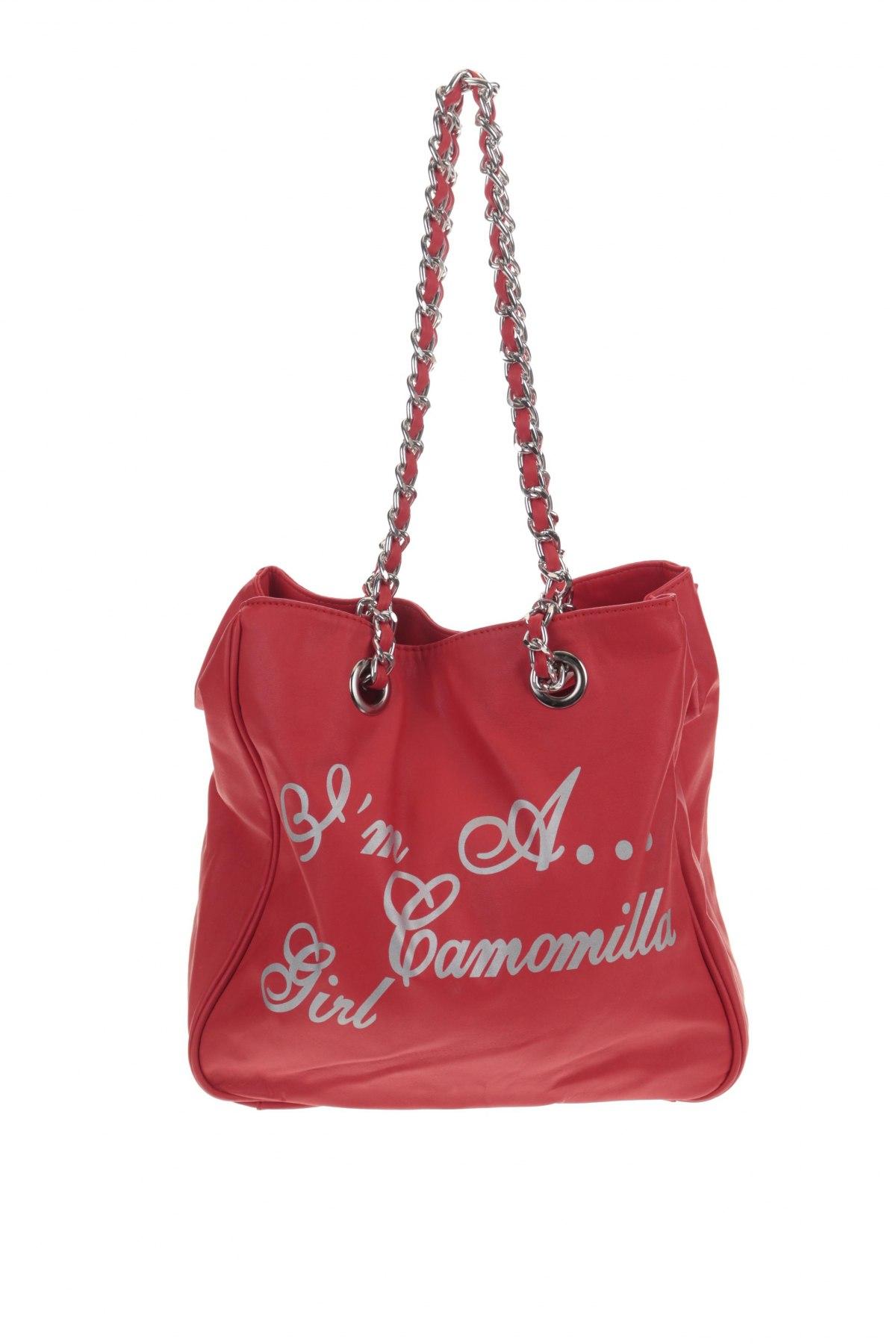 Дамска чанта Camomilla, Цвят Червен, Еко кожа, Цена 36,57лв.