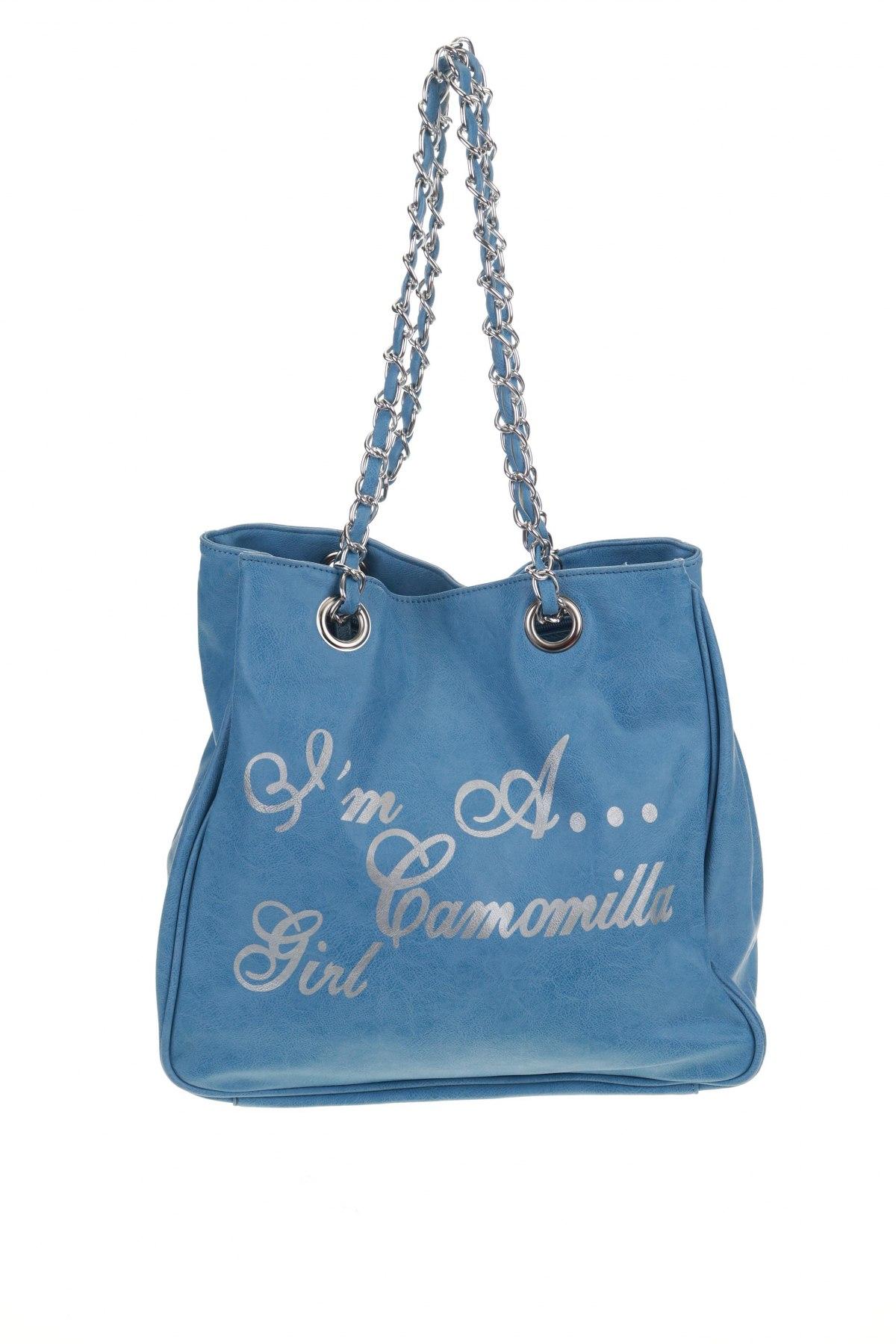 Дамска чанта Camomilla, Цвят Син, Еко кожа, Цена 34,56лв.
