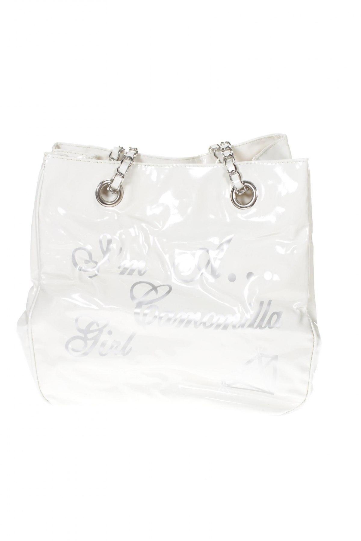 Γυναικεία τσάντα Camomilla, Χρώμα Λευκό, Δερματίνη, Τιμή 23,58€