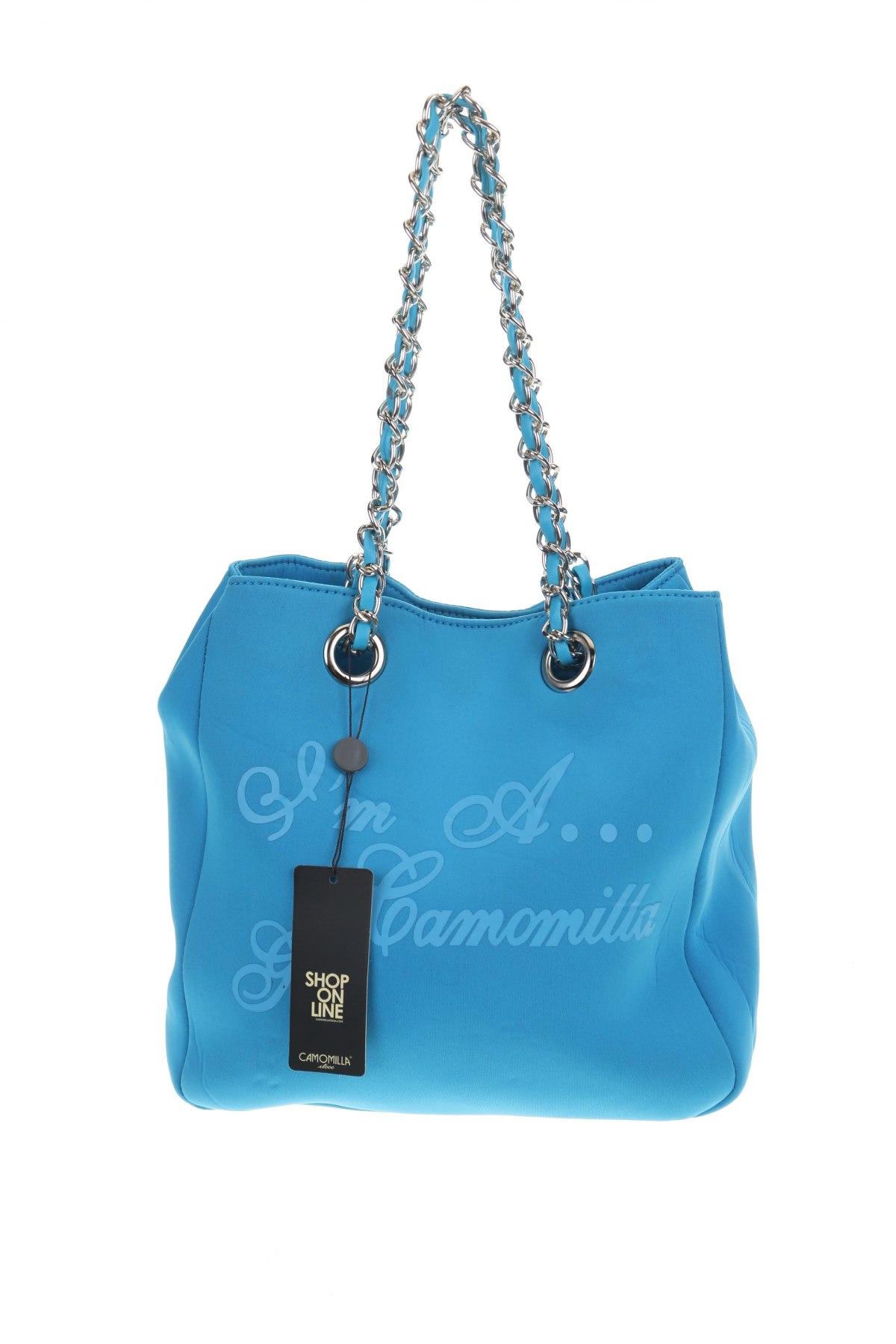 Дамска чанта Camomilla, Цвят Син, Текстил, Цена 23,52лв.