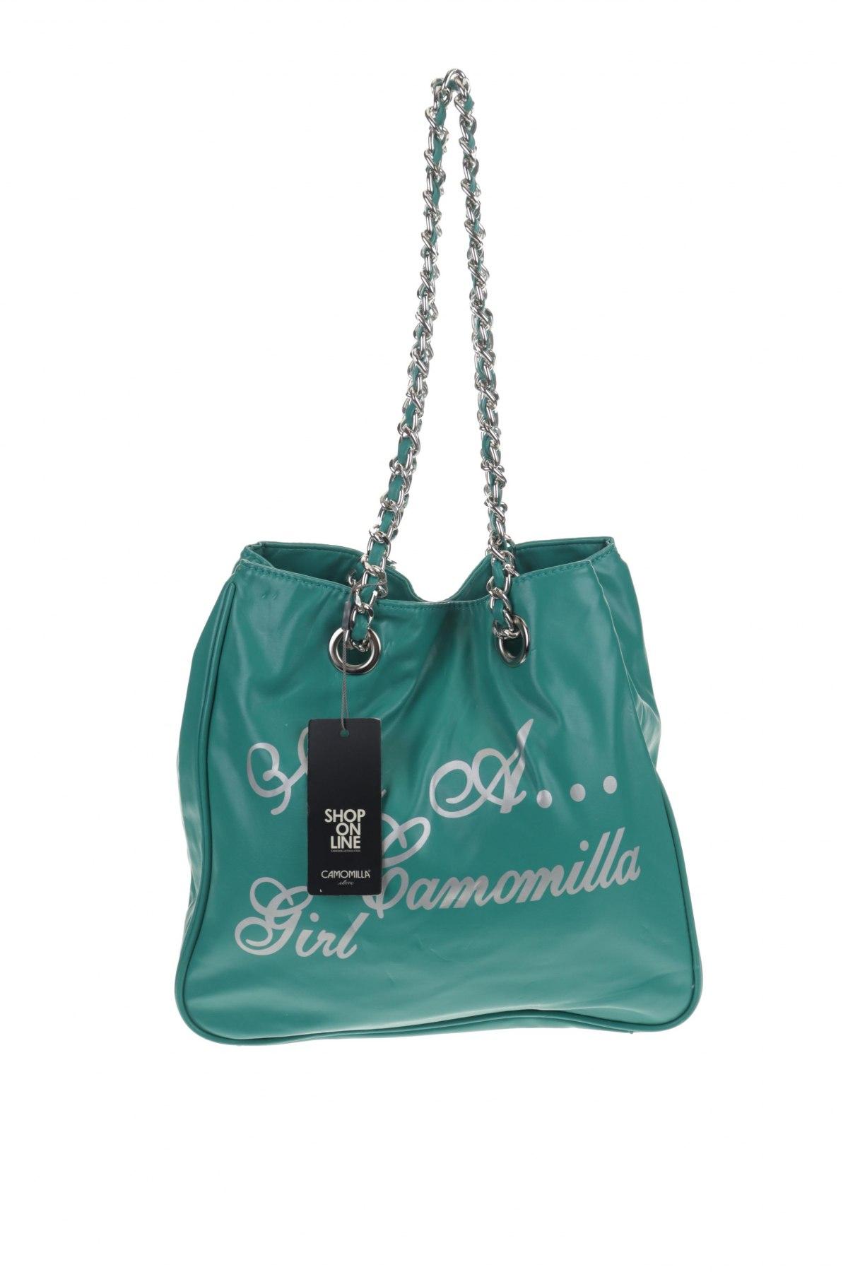 Дамска чанта Camomilla, Цвят Зелен, Еко кожа, Цена 19,32лв.