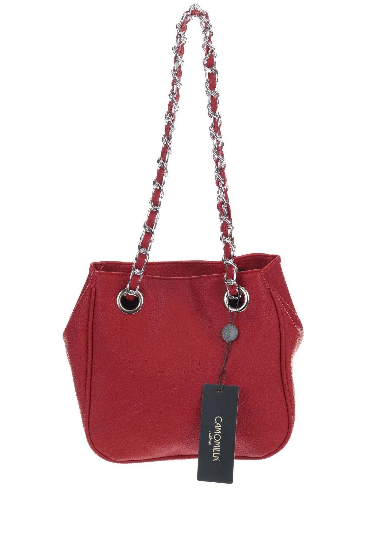 Дамска чанта Camomilla, Цвят Червен, Еко кожа, Цена 51,75лв.