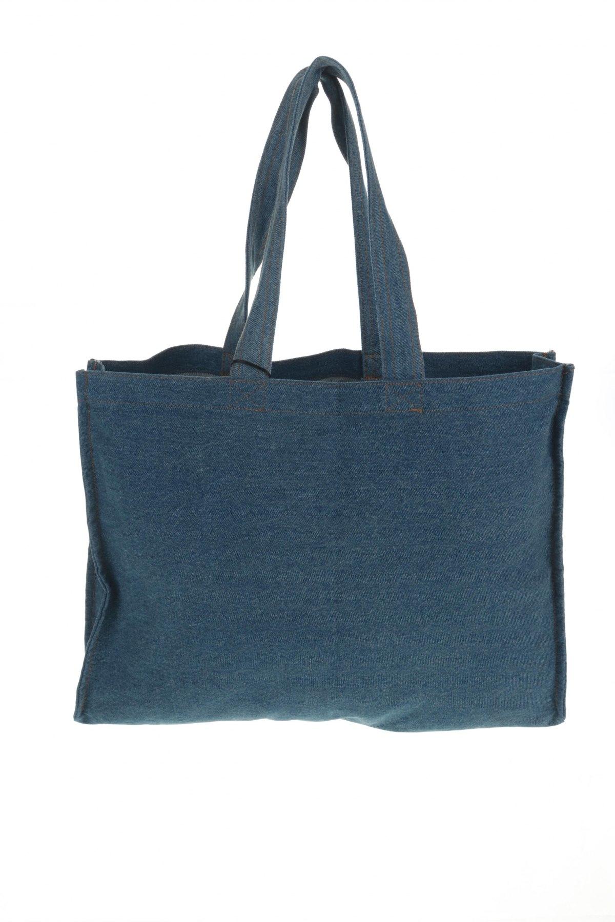 Дамска чанта Mohito, Цвят Син, Текстил, Цена 44,25лв.