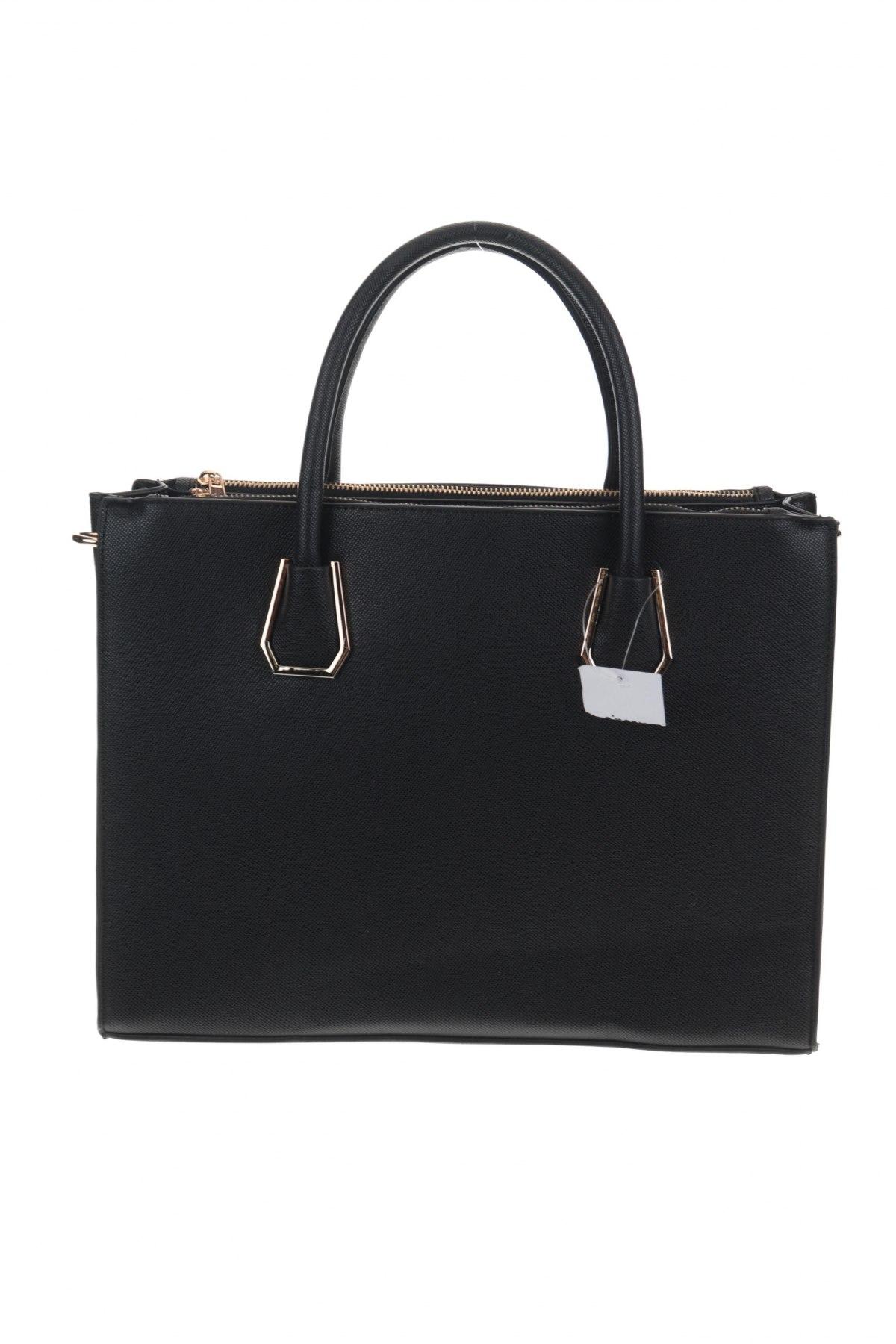 Дамска чанта Sinsay, Цвят Черен, Еко кожа, Цена 26,55лв.