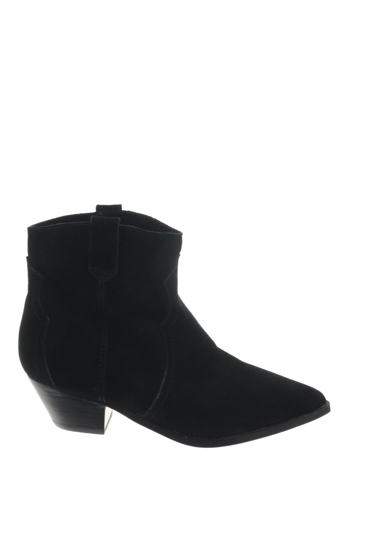 Γυναικεία μποτάκια Reserved, Μέγεθος 40, Χρώμα Μαύρο, Φυσικό σουέτ, Τιμή 12,27€