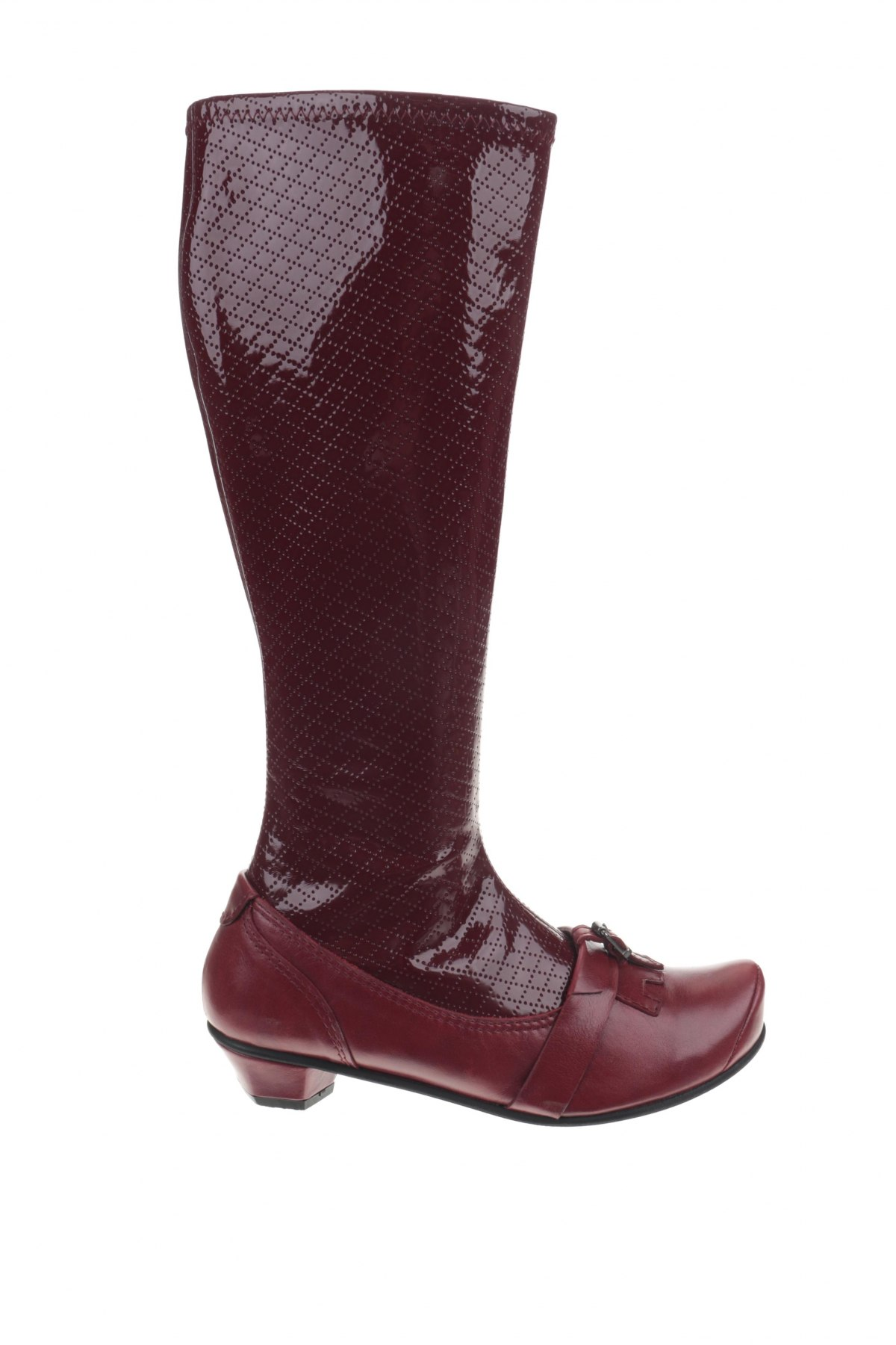 Cizme de damă Tiggers, Mărime 39, Culoare Roșu, Poliuretan, piele naturală, Preț 540,29 Lei