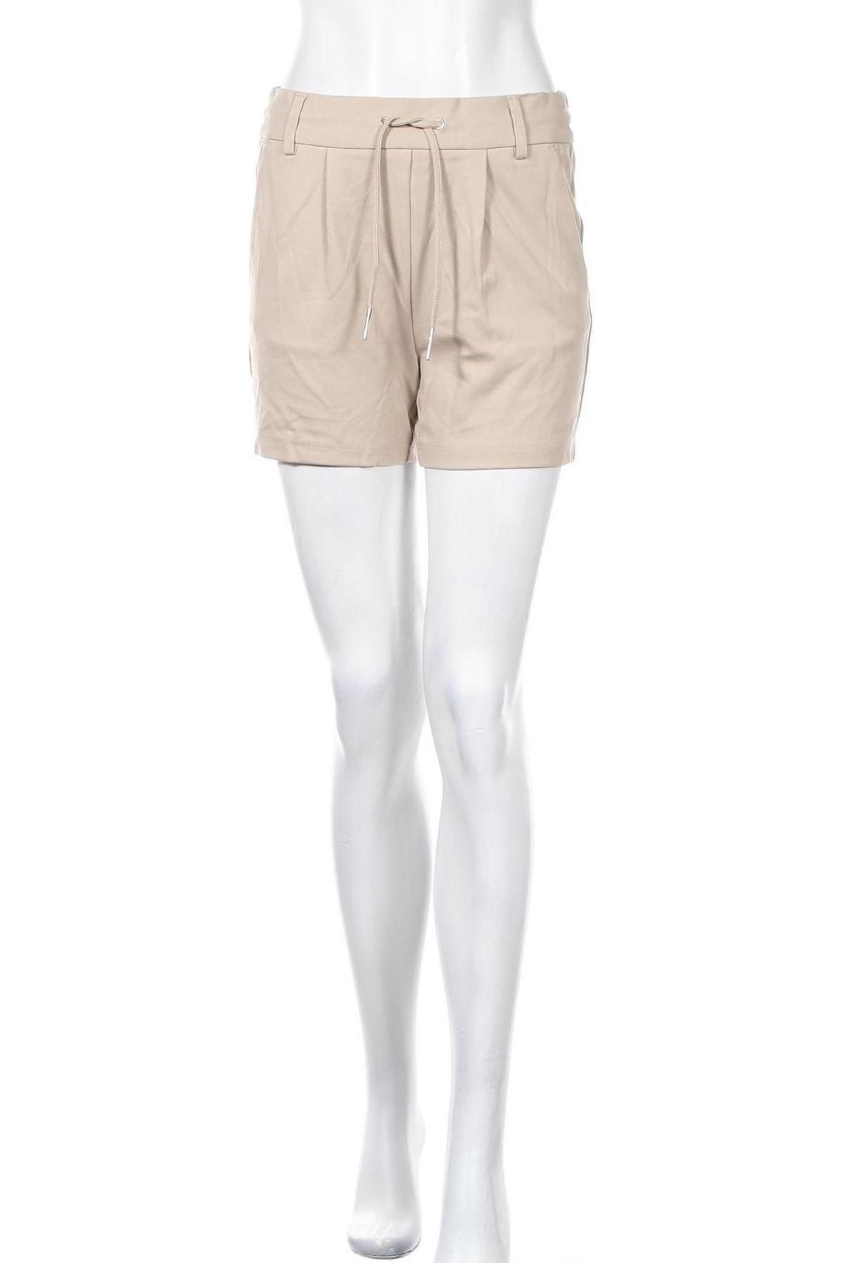 Γυναικείο κοντό παντελόνι ONLY, Μέγεθος S, Χρώμα  Μπέζ, 63% βισκόζη, 32% πολυαμίδη, 5% ελαστάνη, Τιμή 14,65€