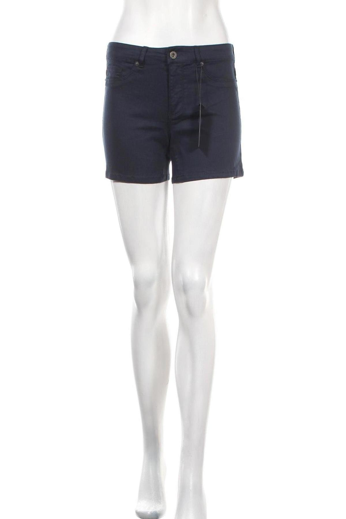 Γυναικείο κοντό παντελόνι Vero Moda, Μέγεθος S, Χρώμα Μπλέ, 82% βαμβάκι, 16% βισκόζη, 2% ελαστάνη, Τιμή 15,16€