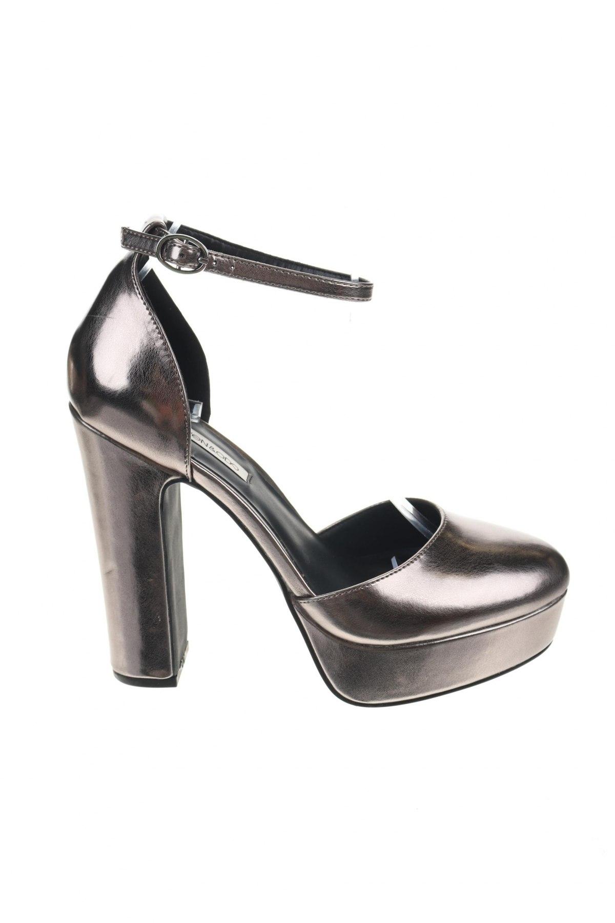 Дамски обувки Even&Odd, Размер 39, Цвят Сив, Еко кожа, Цена 44,25лв.