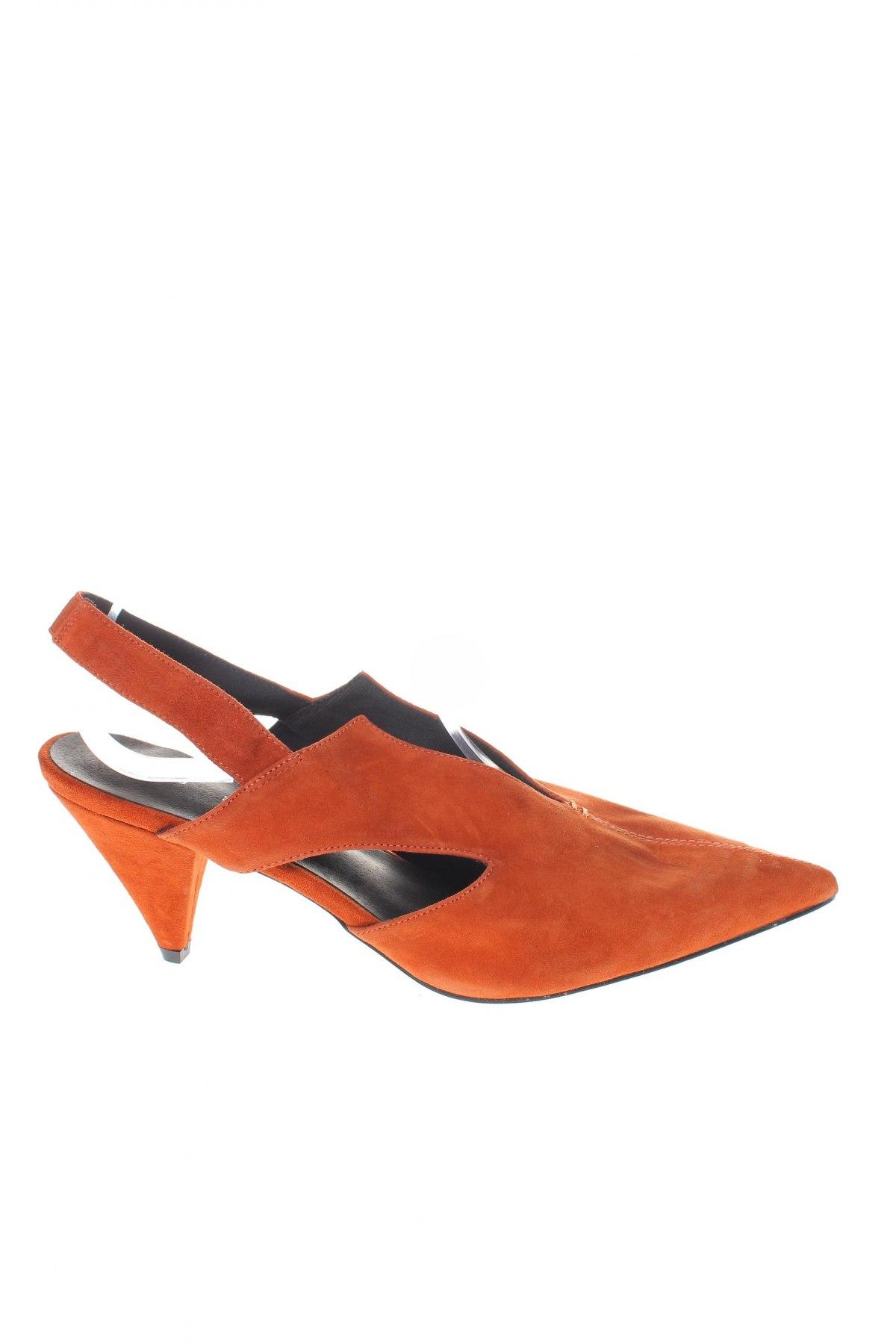 Γυναικεία παπούτσια Reserved, Μέγεθος 39, Χρώμα Πορτοκαλί, Φυσικό σουέτ, Τιμή 16,84€