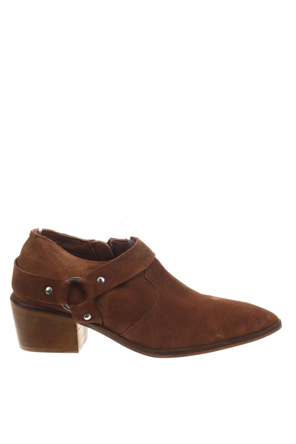 Дамски обувки Reserved, Размер 38, Цвят Кафяв, Естествен велур, Цена 19,58лв.