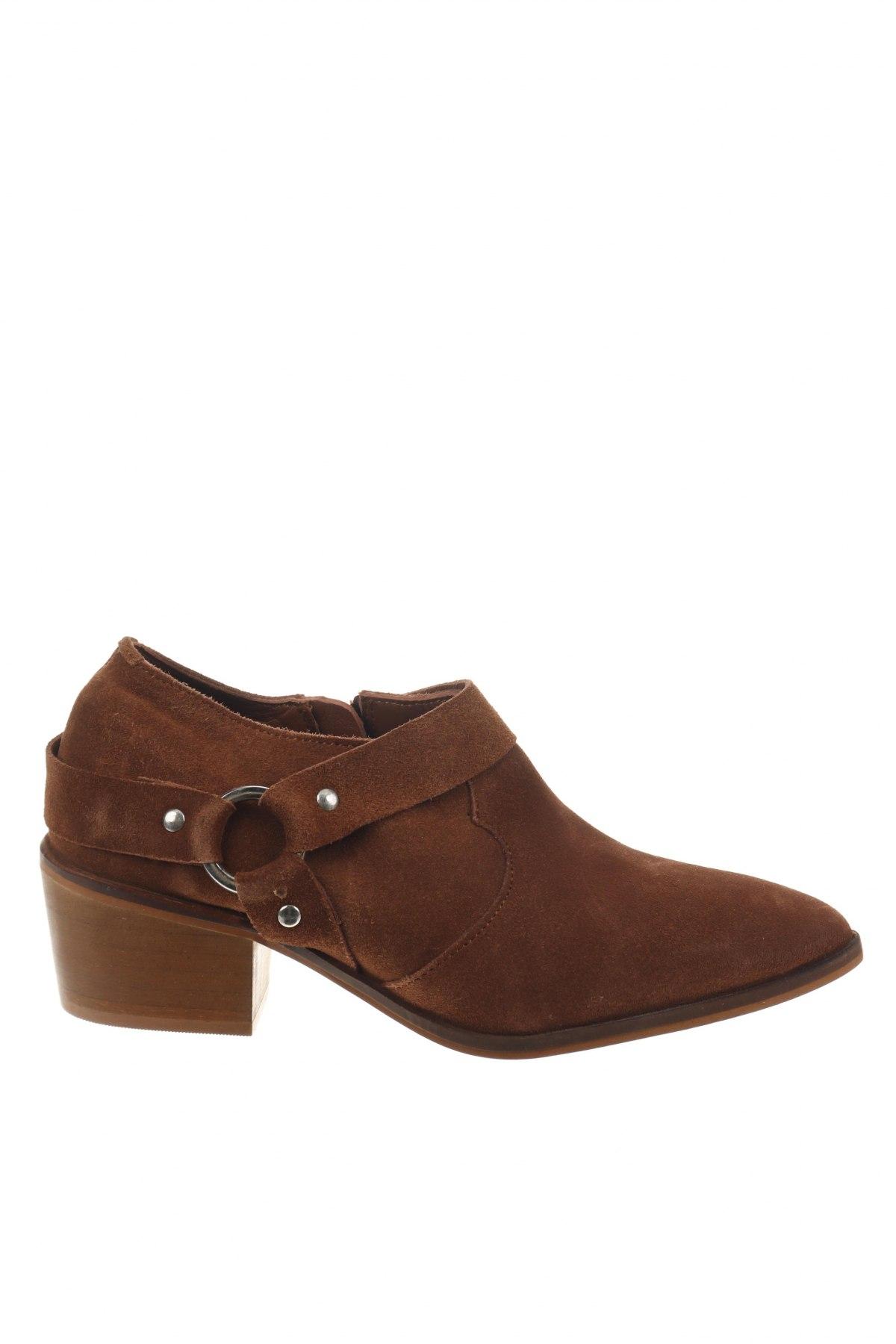 Γυναικεία παπούτσια Reserved, Μέγεθος 37, Χρώμα Καφέ, Φυσικό σουέτ, Τιμή 12,85€
