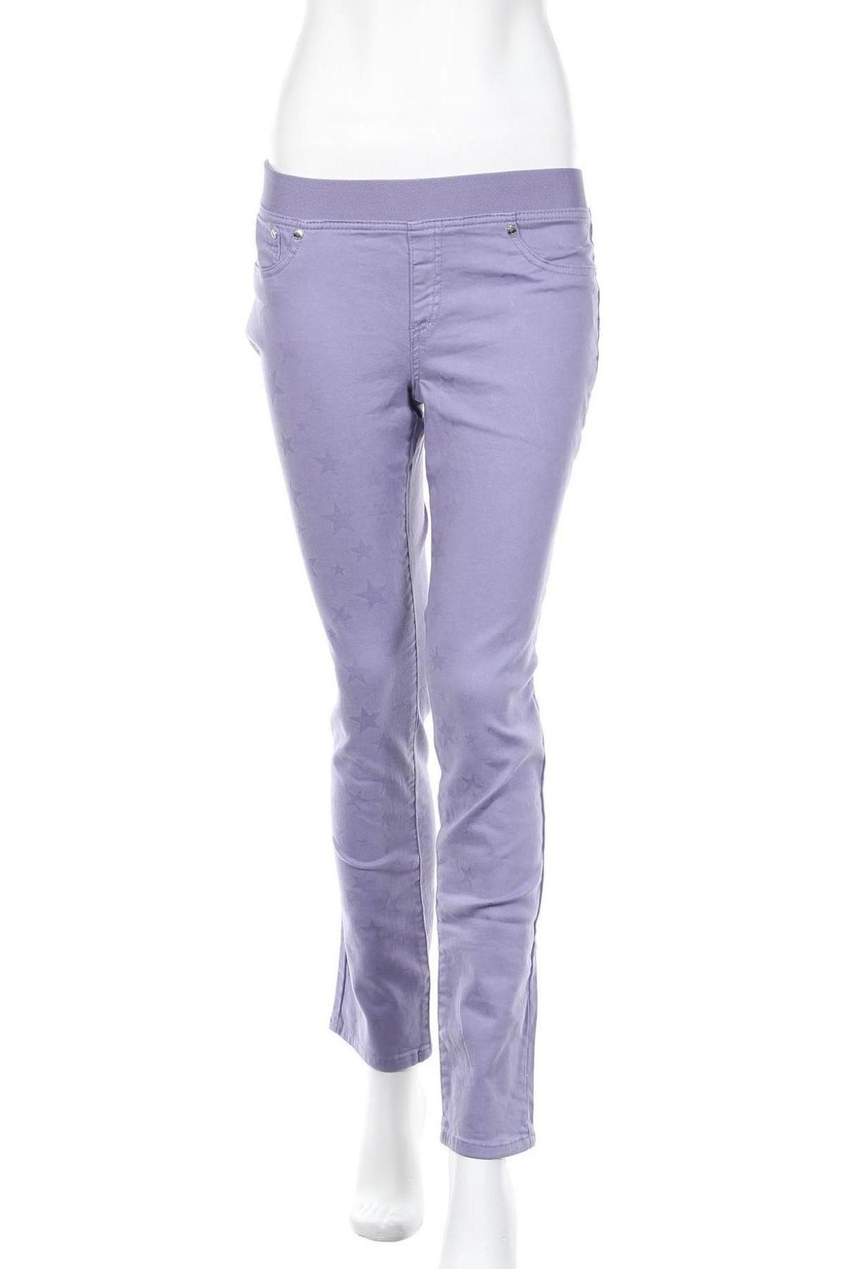 Дамски панталон Camomilla, Размер L, Цвят Лилав, 98% памук, 2% еластан, Цена 15,80лв.