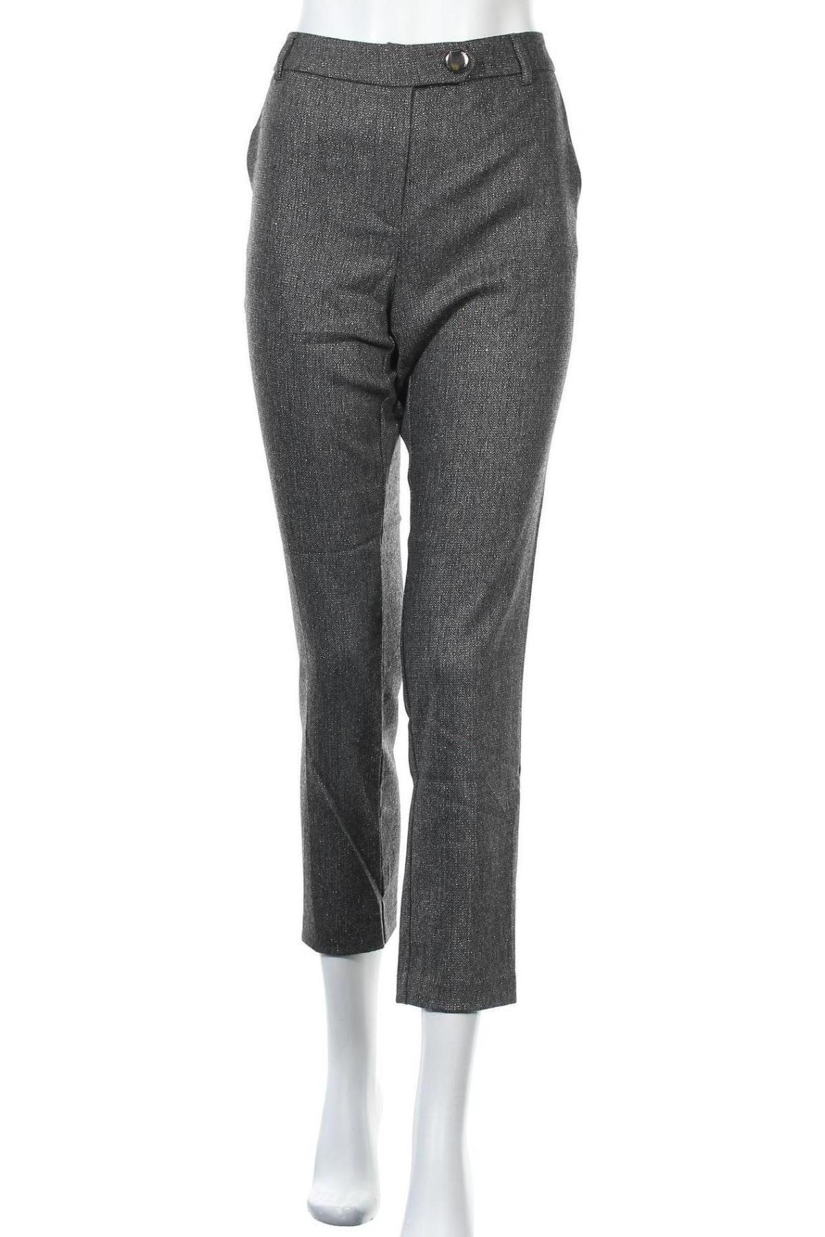 Дамски панталон Camomilla, Размер L, Цвят Сив, 57% полиестер, 27% вълна, 14% вискоза, 2% еластан, Цена 24,92лв.