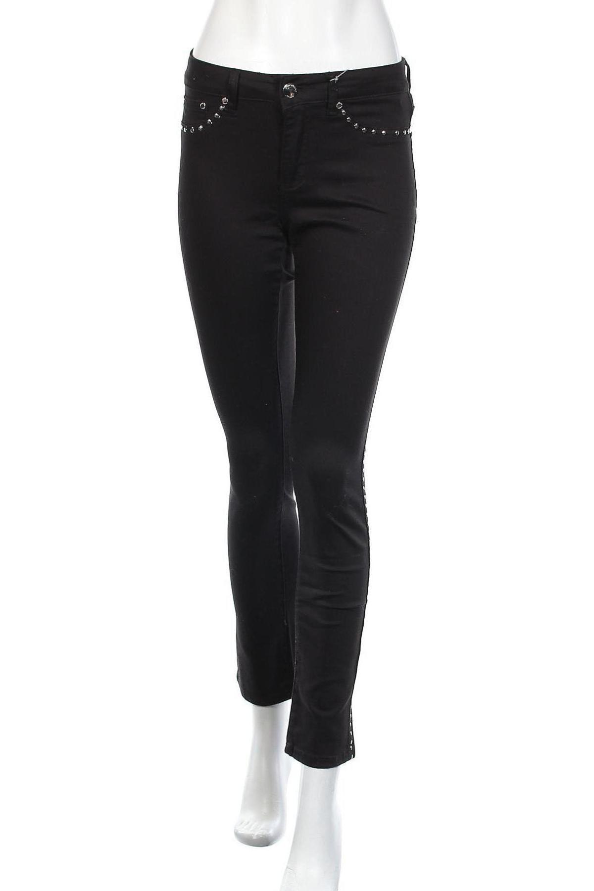 Дамски панталон Camomilla, Размер S, Цвят Черен, 98% памук, 2% еластан, Цена 17,80лв.