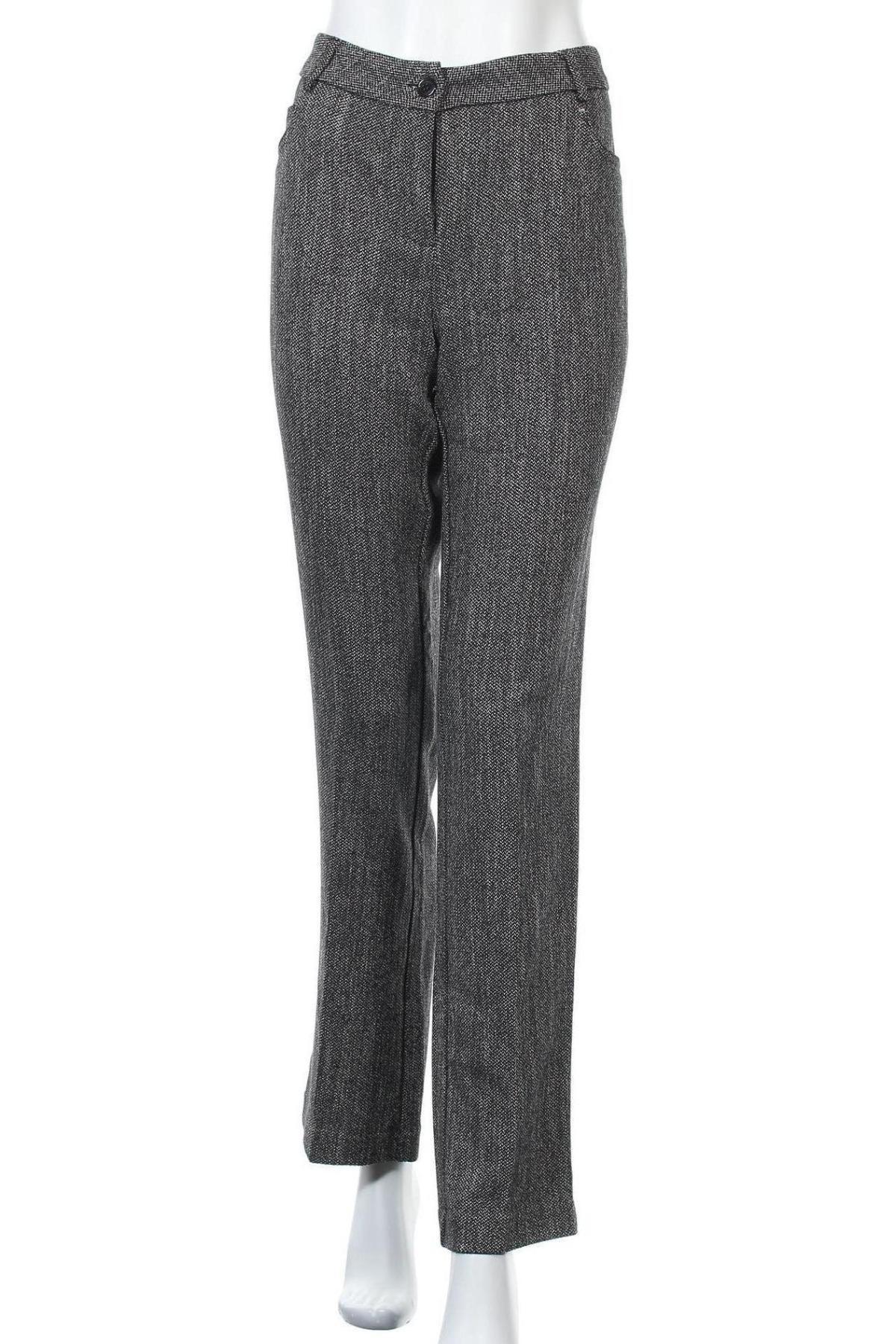 Дамски панталон Camomilla, Размер XL, Цвят Сив, 52% полиестер, 47% вискоза, 1% еластан, Цена 15,56лв.