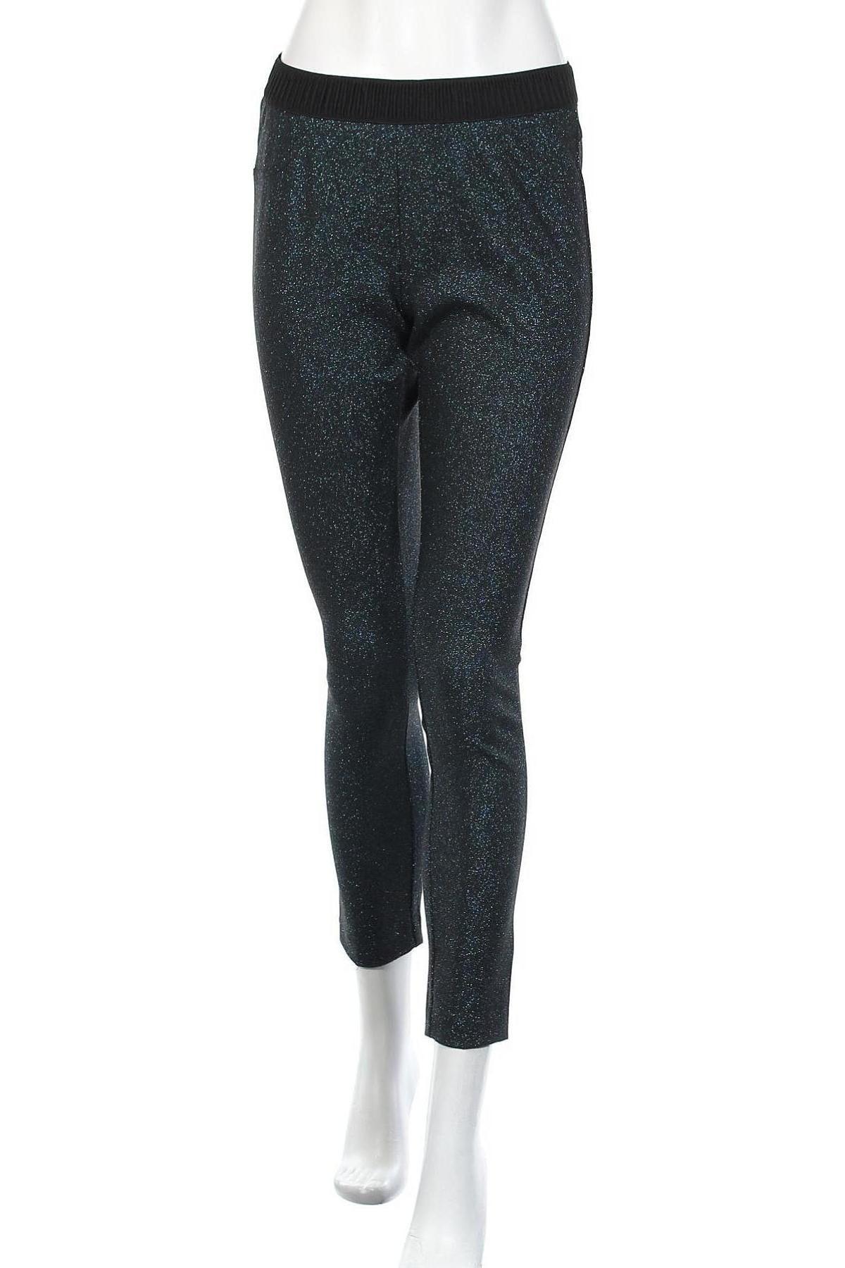 Дамски панталон Camomilla, Размер M, Цвят Черен, 63% полиестер, 23% вискоза, 6% метални нишки, Цена 17,80лв.
