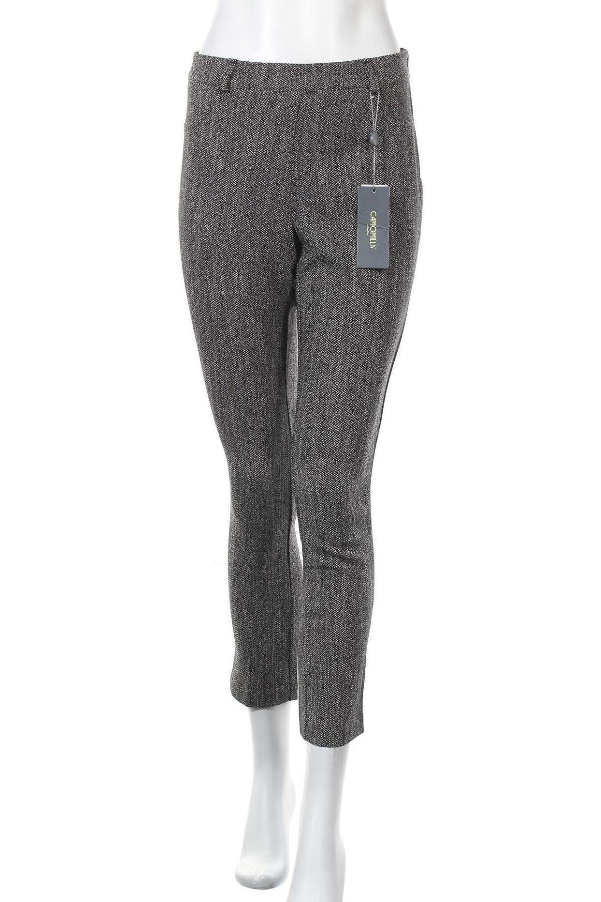 Дамски панталон Camomilla, Размер M, Цвят Сив, 52% полиестер, 47% вискоза, 1% еластан, Цена 17,80лв.