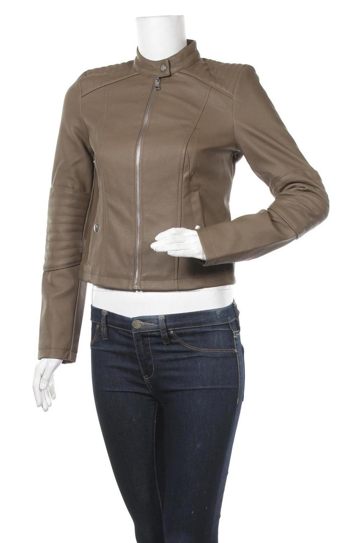 Дамско кожено яке Vero Moda, Размер S, Цвят Кафяв, Еко кожа, Цена 43,45лв.