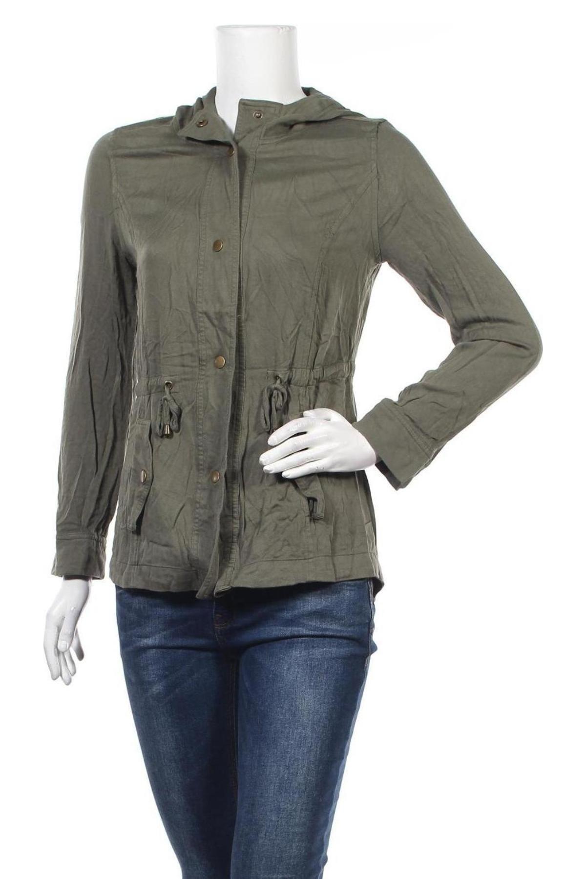 Дамско яке Clothing & Co, Размер M, Цвят Зелен, Вискоза, Цена 12,85лв.