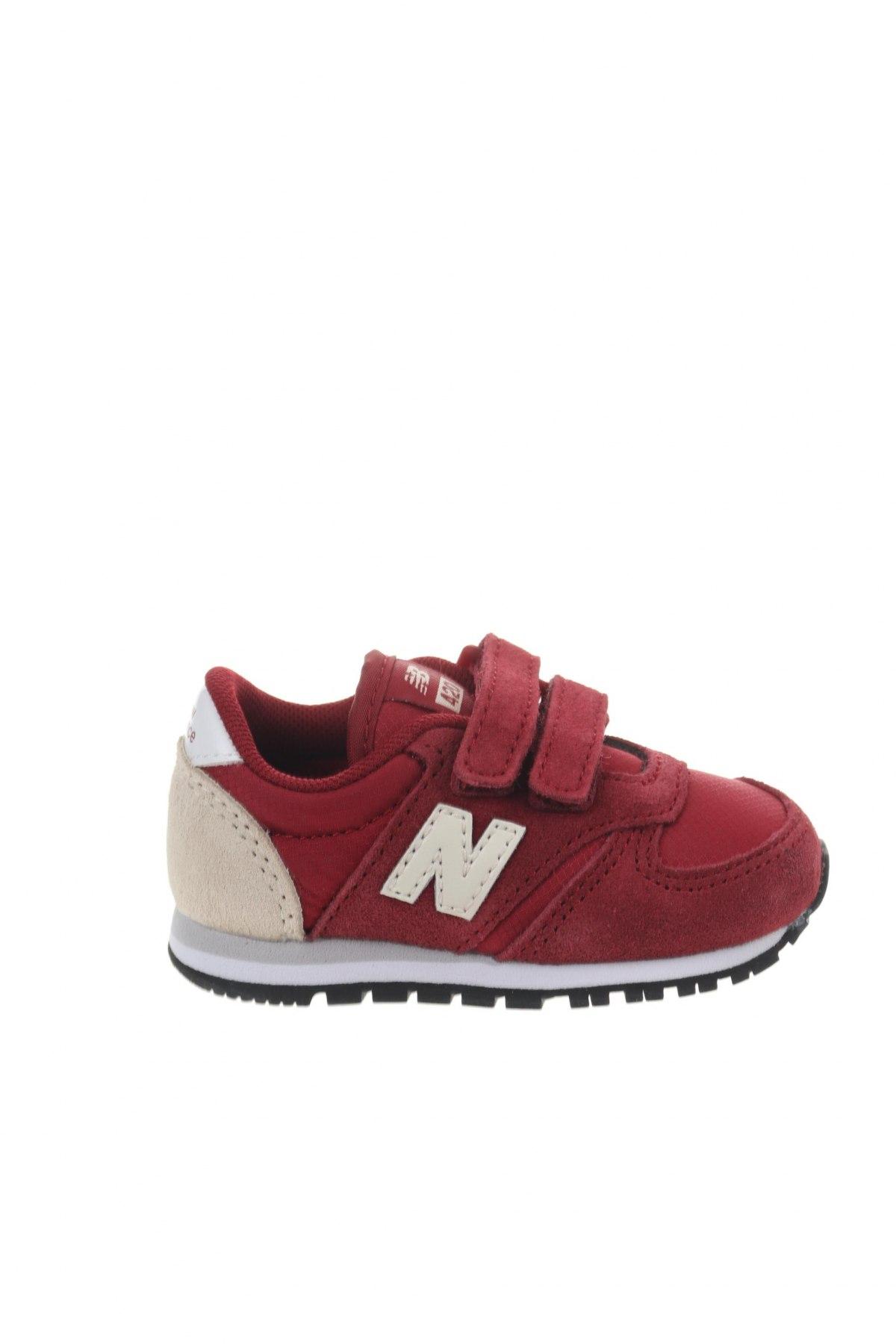 Παιδικά παπούτσια New Balance, Μέγεθος 20, Χρώμα Κόκκινο, Φυσικό σουέτ, κλωστοϋφαντουργικά προϊόντα, Τιμή 34,41€