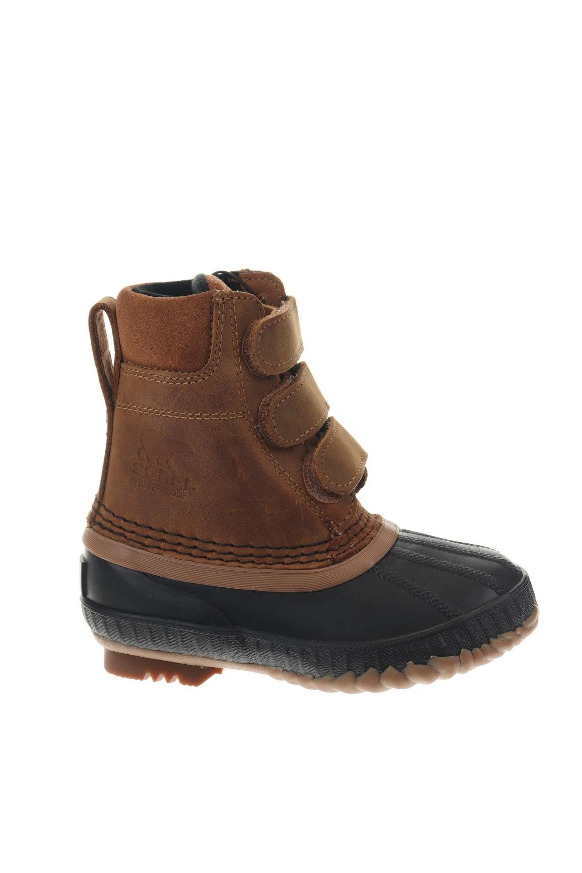 Детски обувки Sorel, Размер 26, Цвят Черен, Еко кожа, естествена кожа, Цена 34,27лв.