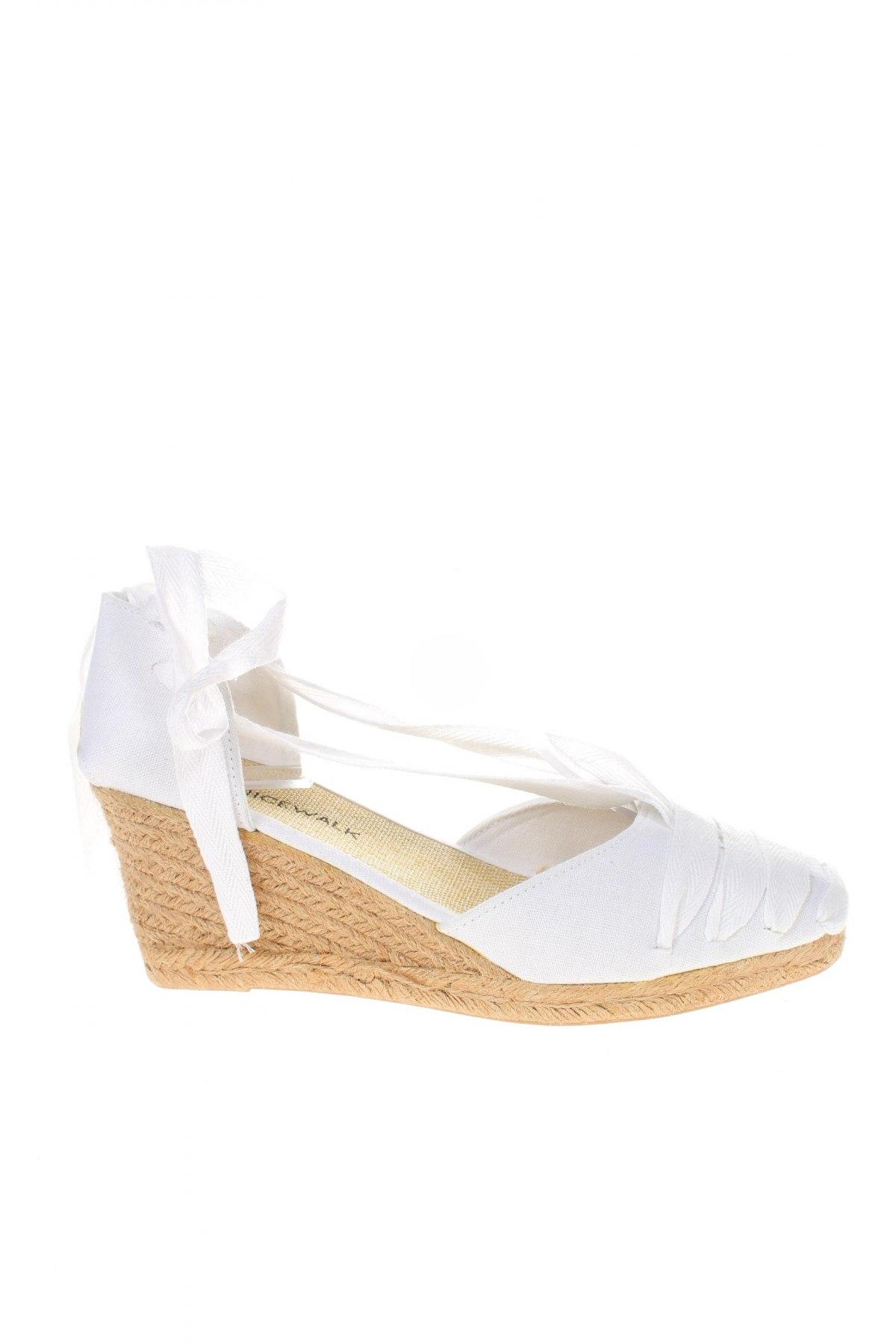 Εσπάδριλλες Nicewalk, Μέγεθος 39, Χρώμα Λευκό, Κλωστοϋφαντουργικά προϊόντα, Τιμή 13,40€