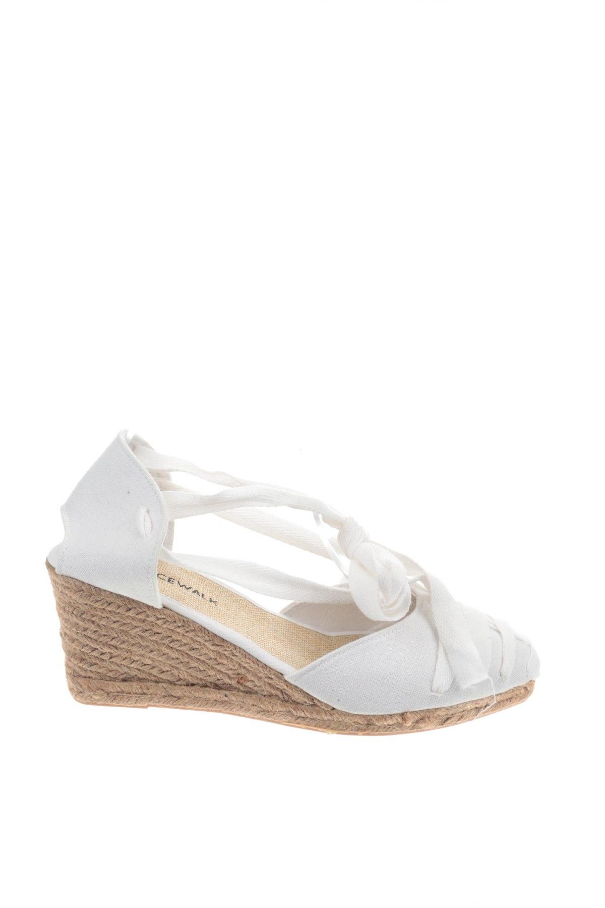 Εσπάδριλλες Nicewalk, Μέγεθος 41, Χρώμα Λευκό, Κλωστοϋφαντουργικά προϊόντα, Τιμή 13,40€
