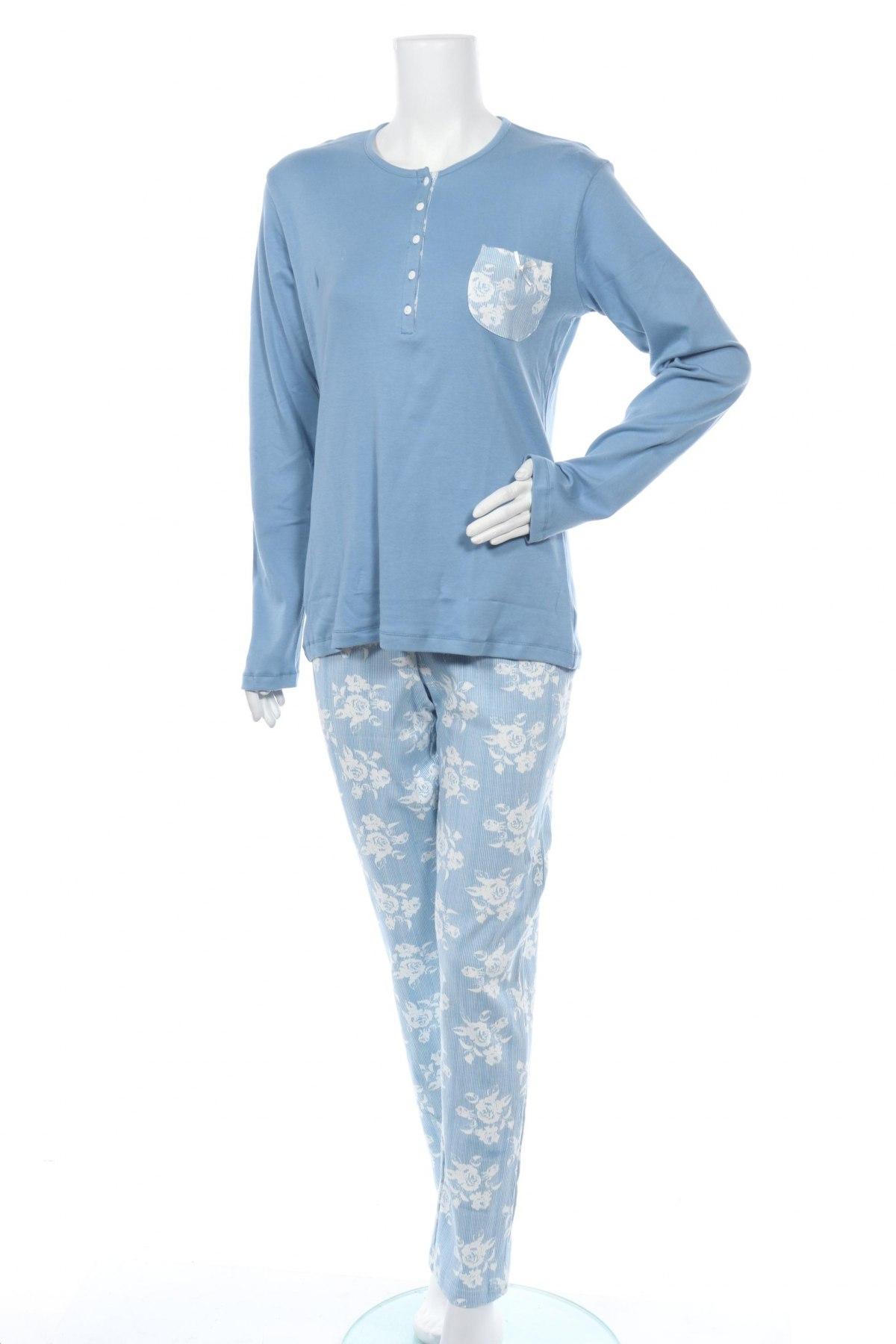 Пижама Cotonella, Размер L, Цвят Син, Памук, Цена 44,25лв.