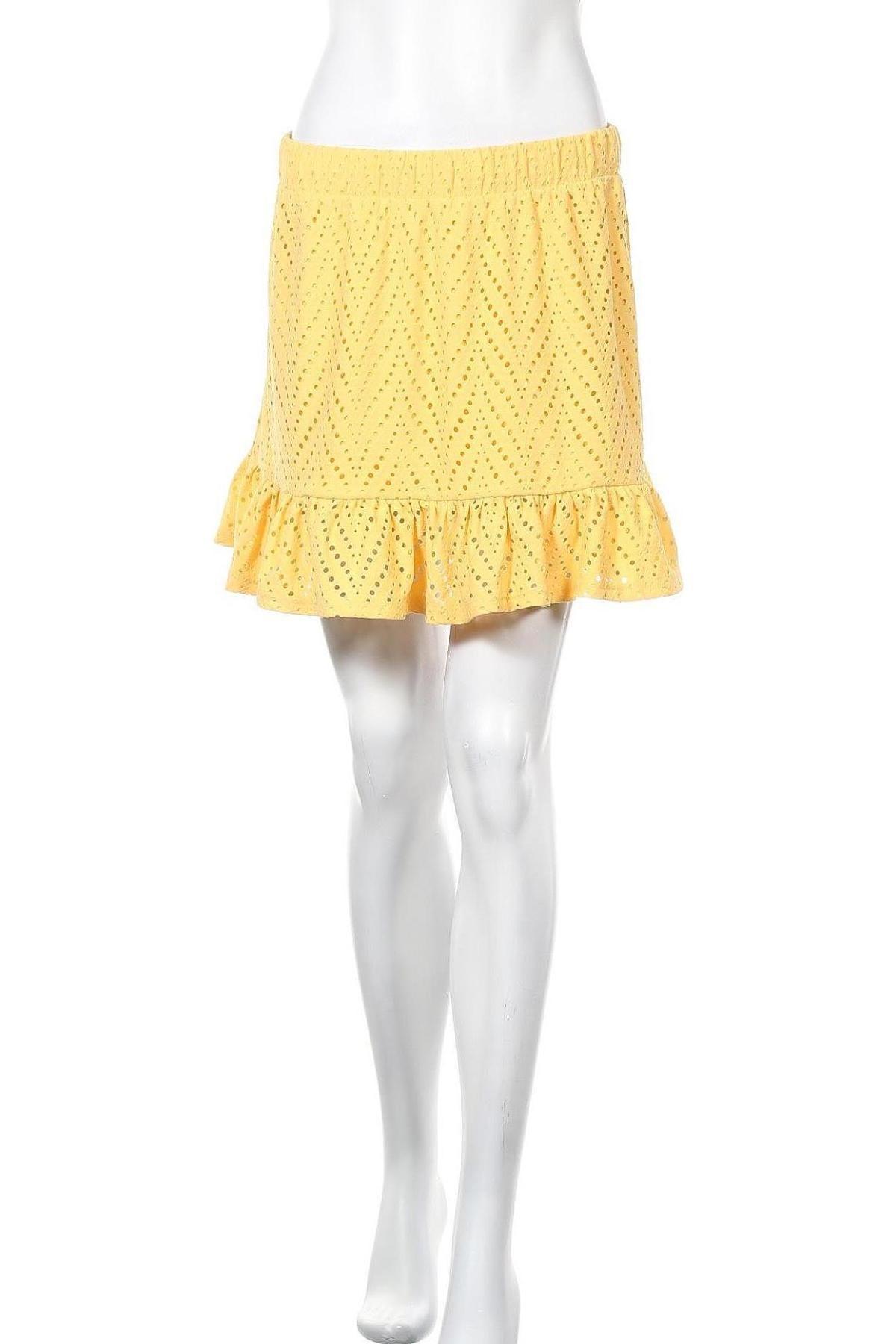 Φούστα Vero Moda, Μέγεθος M, Χρώμα Κίτρινο, 95% πολυεστέρας, 5% ελαστάνη, Τιμή 20,10€