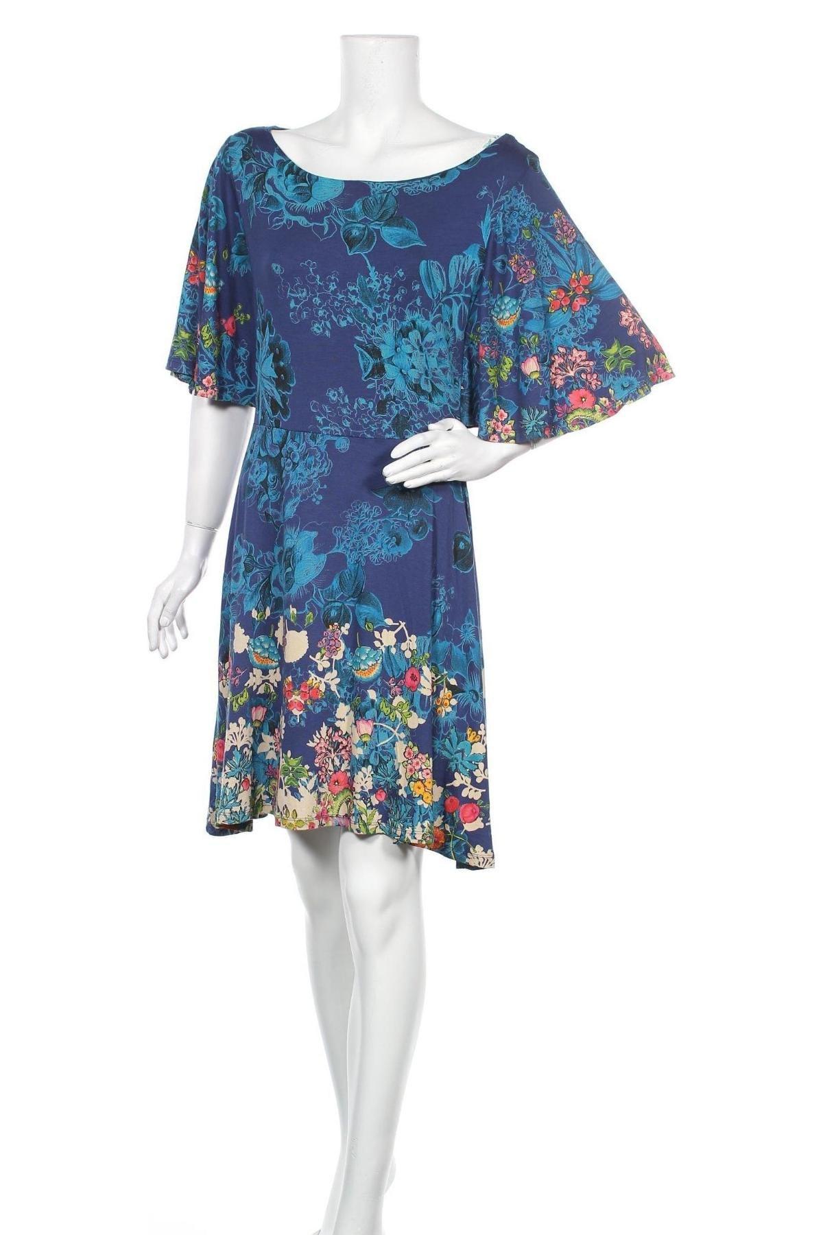 Φόρεμα Desigual, Μέγεθος M, Χρώμα Μπλέ, 95% βισκόζη, 5% ελαστάνη, Τιμή 66,49€