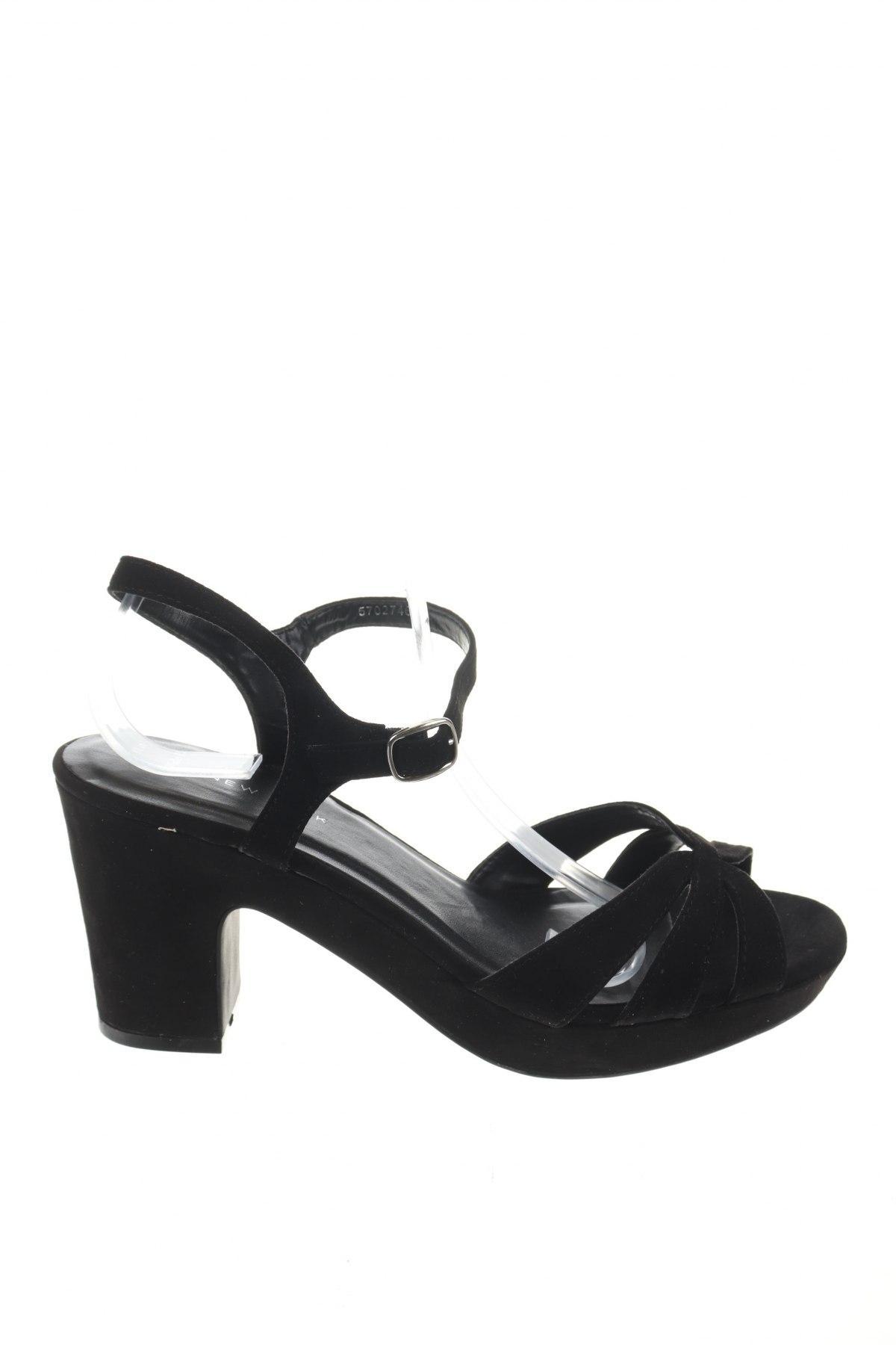 Σανδάλια New Look, Μέγεθος 41, Χρώμα Μαύρο, Κλωστοϋφαντουργικά προϊόντα, Τιμή 15,16€